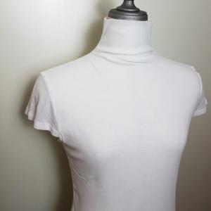 綿 ガーゼ フレンチ袖 タートルネック ハイネック ボトルネック さらさらコットンTシャツ modiste|modisteclub