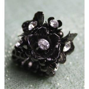 ストレッチリング指輪 花飾り|modisteclub