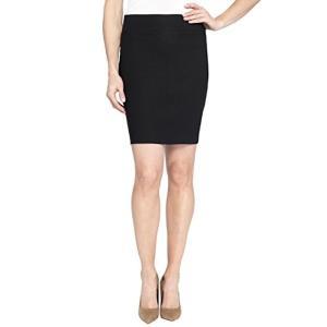 ペンシルスカート 黒ストレッチタイトスカート インポート 膝上|modisteclub