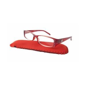 リーディンググラス レッド ケース付 老眼鏡 インポート|modisteclub