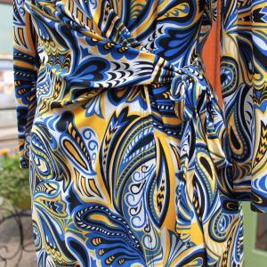 ラップドレス Anne Klein XS プリント ジャージワンピース 大人 インポート レディース modisteclub 05