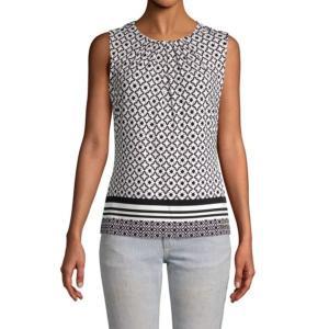 Calvin Klein 襟元プリーツ 幾何学柄 タンクトップ ジャケットイン スーツイン レディース インポート modisteclub
