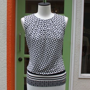 Calvin Klein 襟元プリーツ 幾何学柄 タンクトップ ジャケットイン スーツイン レディース インポート modisteclub 02