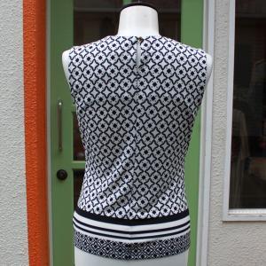 Calvin Klein 襟元プリーツ 幾何学柄 タンクトップ ジャケットイン スーツイン レディース インポート modisteclub 03