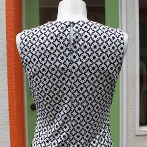 Calvin Klein 襟元プリーツ 幾何学柄 タンクトップ ジャケットイン スーツイン レディース インポート modisteclub 05