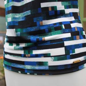 Calvin Klein 襟元プリーツ紺系 幾何学柄 タンクトップ ジャケットイン スーツイン レディース インポート|modisteclub|06