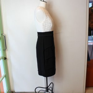 バイカラー 白黒 スパンコールドレス パーティードレス 結婚式|modisteclub|02