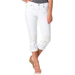 ミスミ― ボーイフレンド 25インチ ホワイトジーンズ MISS ME 刺繍 アンクル丈 カプリ 白 デニム 直輸入|modisteclub