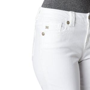 ミスミ― ボーイフレンド 25インチ ホワイトジーンズ MISS ME 刺繍 アンクル丈 カプリ 白 デニム 直輸入|modisteclub|04