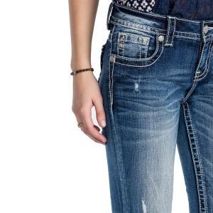 MISS ME カプリジーンズ 裾カットオフ クロップド デニム 日本未入荷 ミスミ― スキニー|modisteclub|04
