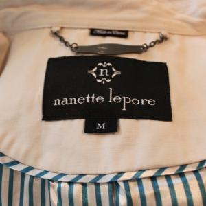 Nanette Lepore  トレンチコート ショート丈 裏地ストライプ ナネットレポー インポート レディース|modisteclub|04