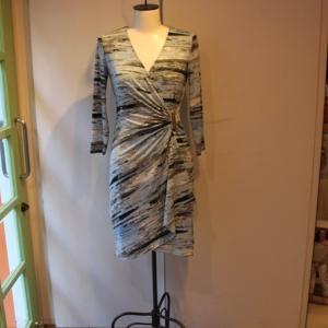 ラップドレス Calvin Klein プリント ジャージワンピース 大人 インポート レディース|modisteclub|02