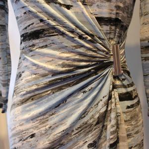ラップドレス Calvin Klein プリント ジャージワンピース 大人 インポート レディース|modisteclub|06