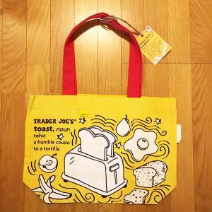 エコバッグ Trader Joe's 朝食 ブレックファースト柄 ファブリック 布 トレーダージョーズ 定形外郵便選択すれば送料無料 modisteclub