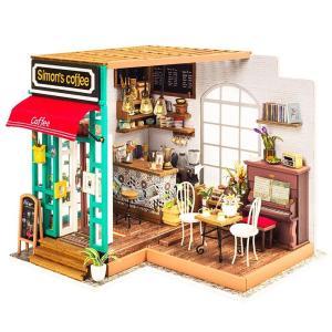 ドールハウス ミニチュア 手作りキットセット おしゃれなお店 LEDライト付属 ( ピアノの生演奏が楽しめるカフェ )