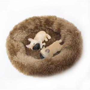 フィギュア マグネット 犬 ふわふわ ベッド付 本物そっくり 磁石 ( すやすや フレンチブルドッグ( フォーン ( ライト ) ) 2匹 )