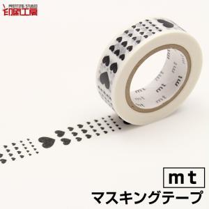 マスキングテープ mt 1P ハート・スケール カモ井加工紙 『印刷工房』
