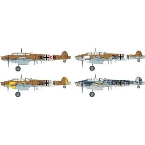 サイバーホビー 1/48スケール  【CH5560】 WW.II ドイツ空軍 メッサーシュミット Bf110 E-2 Trop