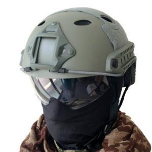 イーグルフォース【5503LP-PJ-OD】EAファストヘルメット PJタイプ グラス付き [OD]|mokeiyabigman