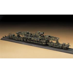 ハセガワ 1/72スケール 【MT57】 60cm 自走臼砲 カール 量産型 w/運搬貨車|mokeiyabigman