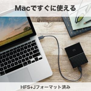 WD HDD Mac用ポータブル ハードディスク 2TB USB3.0 タイムマシン対応 暗号化パスワード保護 3年保証 mokku-shop