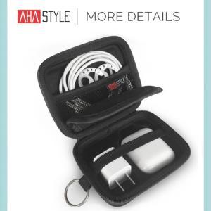 AirPods エアーポッズ ハード ケース 充電器 ストラップ アクセサリー プレミアムEVA  カラビナ付き アップル AhaStyle|mokku-shop