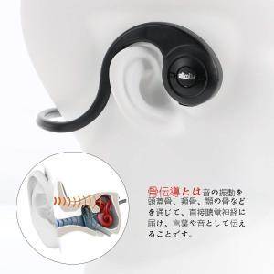 骨伝導 イヤホン Bluetooth スポーツ 軽量 操作簡単 高音質 聴力保護 耳が疲れない 防汗 防滴  iPhone Android|mokku-shop