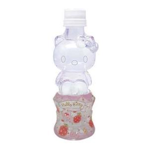 ハローキティのボトルウォーターに、 りんご柄のキュートなラベルを巻いています。  中身は軟水で飲みや...
