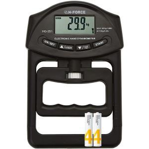 握力計 握力測定 デジタル握力計 保証書付 電池付き  N-FORCE