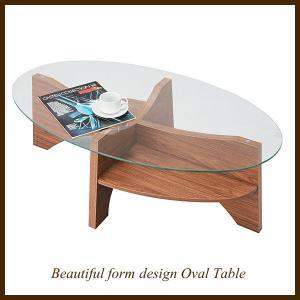 オーバルテーブル センターテーブル LE-454|moku-moku