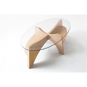 オーバルテーブル センターテーブル LE-454|moku-moku|03