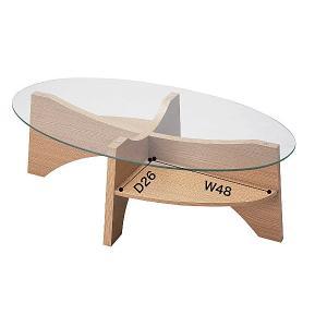 オーバルテーブル センターテーブル LE-454|moku-moku|05