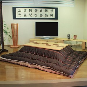 高級こたつ布団 敷ふとんセット 着物柄 135cm〜150cm用 moku-moku