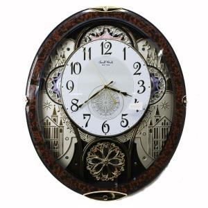 送料無料 訳あり特価!リズム時計製スモールワールド電波掛時計 スモールワールドノエル 4MN509RH23
