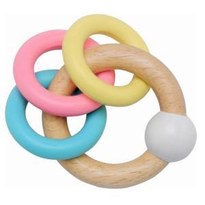 3リングスラトル 出産祝い 赤ちゃん ベビー おもちゃ ガラガラ プレゼント|mokuguru