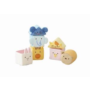 ふわふわアニマルブロック 出産祝い 赤ちゃん 布おもちゃ 1歳 誕生日 プレゼント|mokuguru