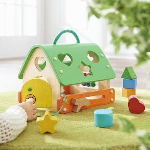 あそびのおうち 木のおもちゃ  出産祝い 1歳 2歳 誕生日 プレゼント 知育玩具|mokuguru