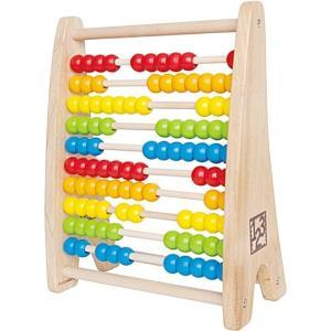 レインボービーズアバカス 百玉そろばん 数字 知育玩具 3歳 4歳 木のおもちゃ|mokuguru