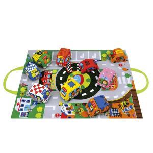 カーズ・イン・タウン ケーズキッズ 車 布おもちゃ 出産祝い 1歳 2歳 誕生日 プレゼント|mokuguru