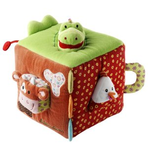 リリピュション キューブ クロコ 布おもちゃ 出産祝い 1歳 2歳 誕生日 プレゼント|mokuguru