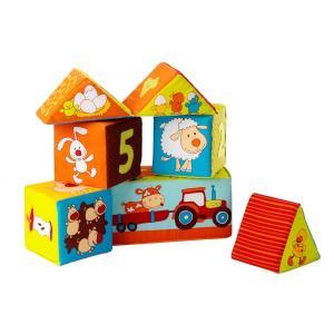 リリピュション キューブ ファーム 出産祝い 赤ちゃん おもちゃ つみき 1歳 誕生日 プレゼント|mokuguru