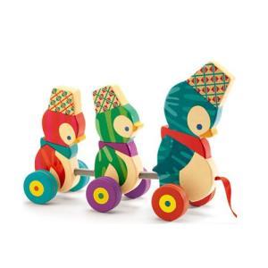 プルトーイ ピンギーファミリー ペンギン 木のおもちゃ 1歳 2歳 誕生日 プレゼント|mokuguru