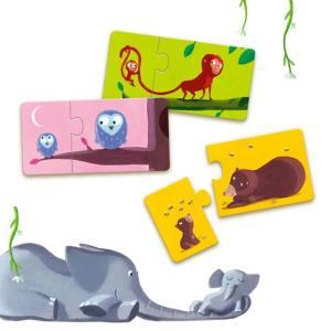 パズルデュオ マム&ベビー  幼児向けパズル 1歳半 2歳 誕生日 プレゼント|mokuguru