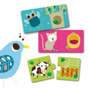 パズルデュオ ハビタット 幼児向けパズル 1歳半 2歳 誕生日 プレゼント|mokuguru