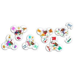 パズルトリオ ザデイ 幼児向けパズル 2歳 3歳 誕生日 プレゼント|mokuguru