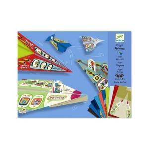 DJECOジェコ オリガミ プレイン 飛行機 折り紙セット 4歳 5歳 男の子 プレゼント|mokuguru