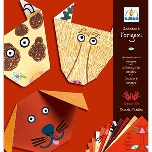 DJECOジェコ オリガミ アニマル 動物 折り紙セット 3歳 4歳 5歳 プレゼント|mokuguru