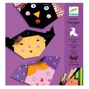 DJECOジェコ オリガミ フェイス 顔 折り紙セット 3歳 4歳 5歳 プレゼント|mokuguru