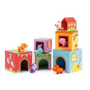 タパニファーム 積み木 知育玩具 出産祝い 1歳 2歳 誕生日 プレゼント|mokuguru