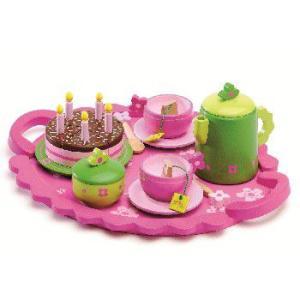 バースディティーパーティー おままごと 3歳 4歳 女の子 おもちゃ 誕生日 プレゼント|mokuguru